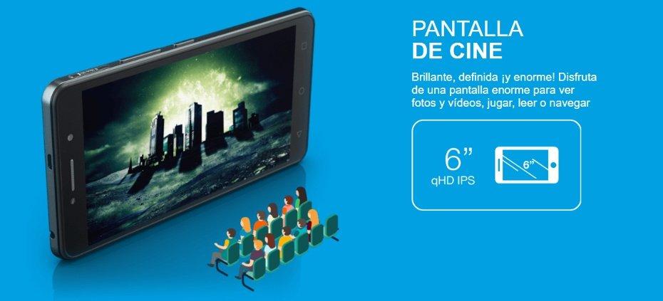 Alcatel Pixi 4 pantalla 6 pulgadas