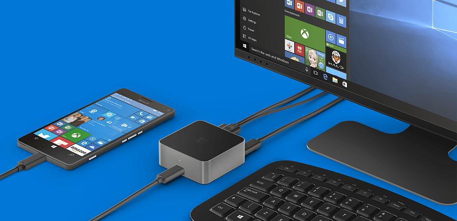 Microsoft Lumia con Continuum