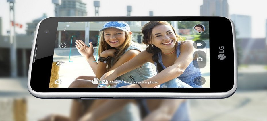 LG K4 cámara