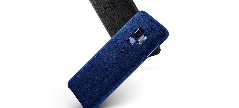Samsung Alacantara para Galaxy S9 Azul