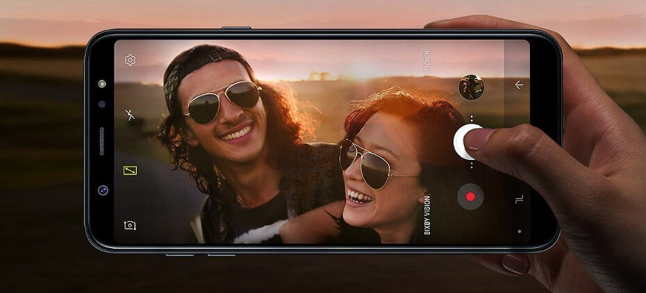 Cámara Samsung Galaxy A6 Plus
