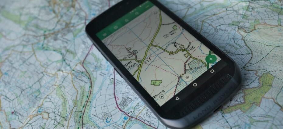Land Rover Explore cartografía
