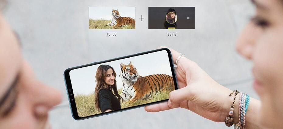 LG V40 cámara