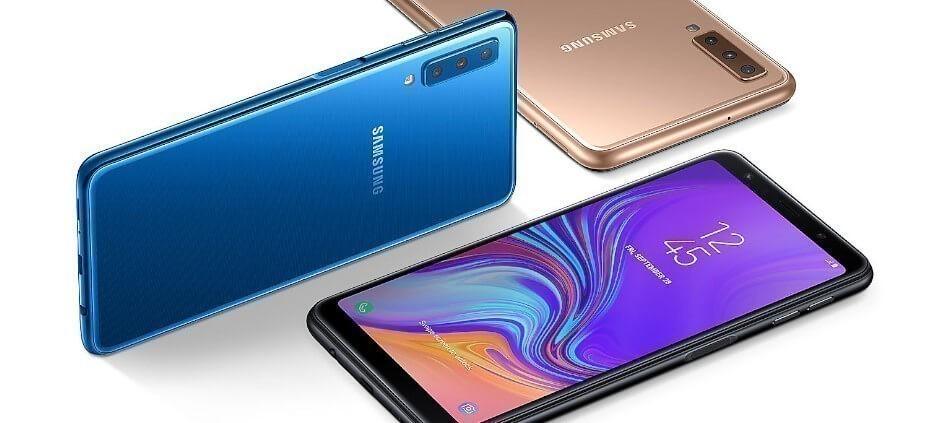 Samsung Galaxy A7 2018 diseno