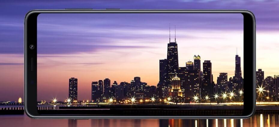 Samsung Galaxy A9 2018 pantallas