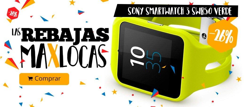 Sony SmartWatch 3 SWR50 Verde rebajas