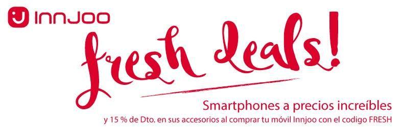 Ofertas Innjoo: smartphones a precios increíbles y 15% de Descuento en sus accesorios al comprar un móvil