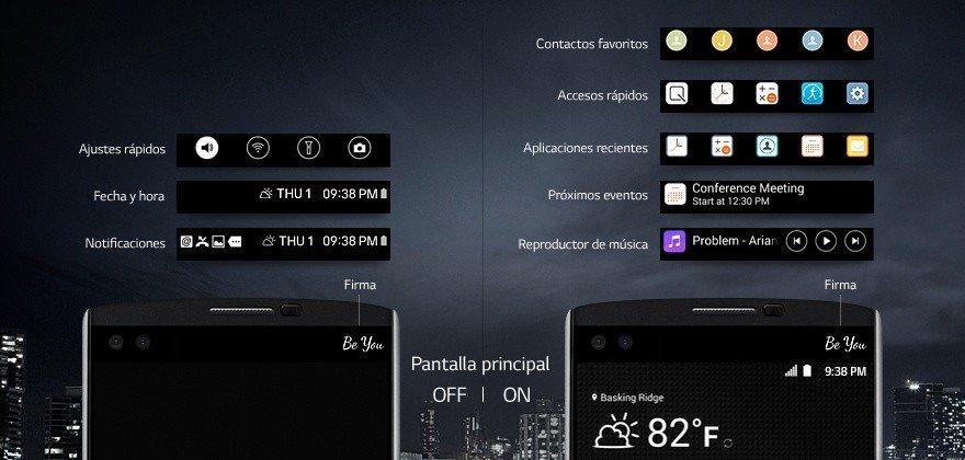LG V10 pantalla doble