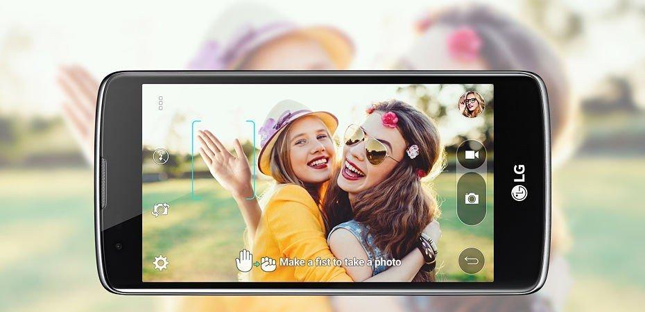 LG K8 selfies reconocimiento gestual
