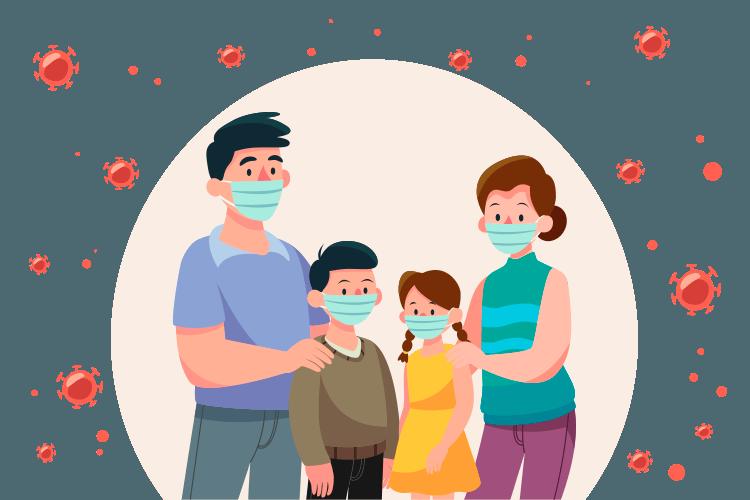 mascarillas para toda familia