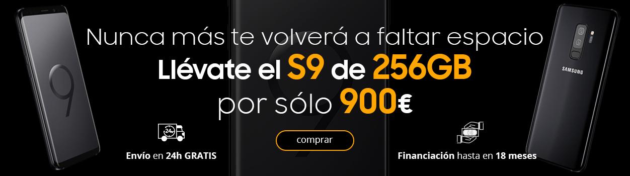 Nunca más te volverá a faltar espacio. Llévate el S9 de 256GB por sólo 900€.