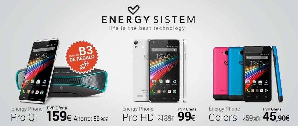 Oferta especial smartphone y altavoz Energy Sistem